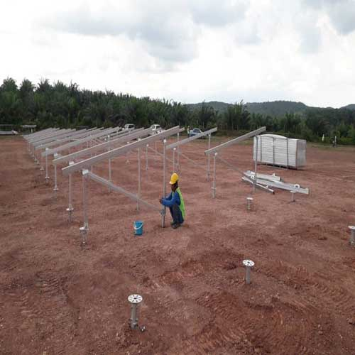 Screw Pile Solar Ground Mounting Project