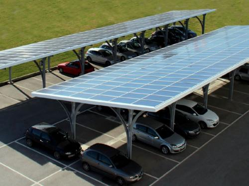 Solar carport PV mounting structure