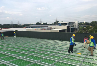 1MW green metal roof project in Malaysia 2020