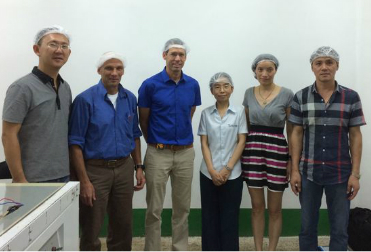 Israel clients visit our production line
