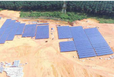 Our big commercial ground solar system under construction