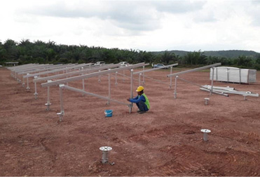 45MWp Screw Pile Solar Ground Mounting Project in Malaysia 2020